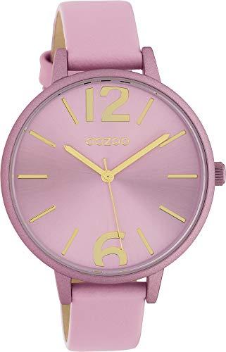 Oozoo Damenuhr mit Lederband 40 MM Colours of Oozoo Unicolor Rosa C10441