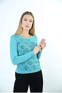 Sweater Bisiklet Yaka Kadın Kışlık Triko Kazak 3890