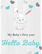 First Year Memory Book & Baby Journal: Photo Album For New Born Baby & Great Baby Shower Gift | Record The First 12 Months of a Baby's Life