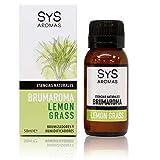 S&S Cosmetica natural Esencia BRUMAROMA SYS 50ml Lemon Grass. Aceites Esenciales Naturales 100%, Aromaterapia para Humidificador y Difusor Aroma SPA, Masajes, Relajación. Brumizador