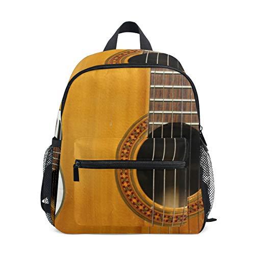 Kleine Schultasche Gitarre Keyboard Musik Rucksack für Mädchen Jungen Kinder Mini Reise Daypack Grundschule Schüler Büchertasche
