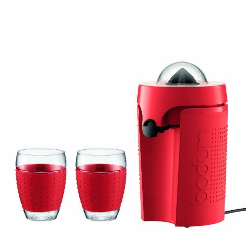 Bodum Bistro Electric Two Speed Citrus Juicer, Red