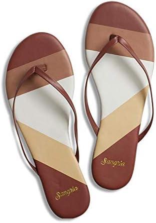 Sangria Women's Flip Flop Sandals - Colorblock Collection