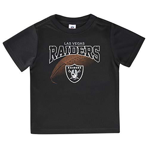 NFL Oakland Raiders Short Sleeve Team Fan Tee Shirt, black Oakland Raiders, 4T, black Las Vegas Raiders (067581)