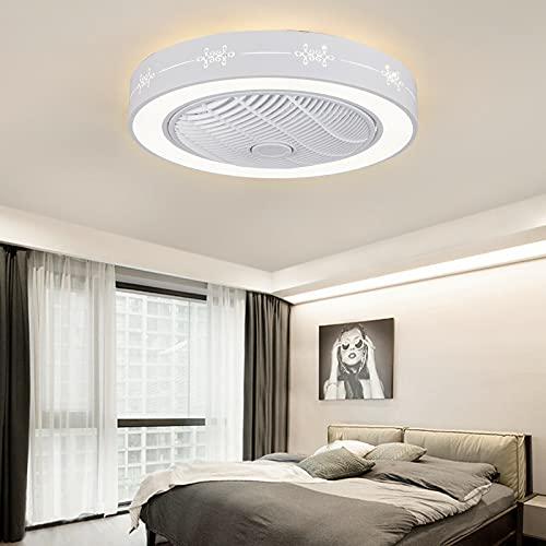 Ventilador de techo con iluminación regulable, ventilador de techo con lámpara LED, para comedor, dormitorio, lámpara de techo