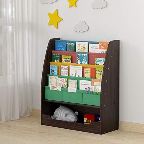 childrens bookcase espresso - 1