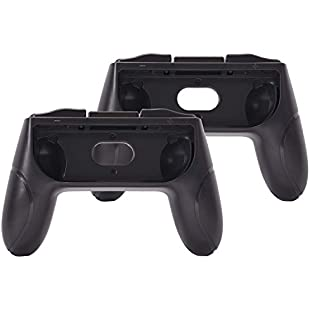 Joy-Con Controller Padding Protective Grips Wear-Resistant Game Handle for Nintendo Switch - 2 Packs Black Durable Long-Lasting Easy Trigger:Diet-beauty