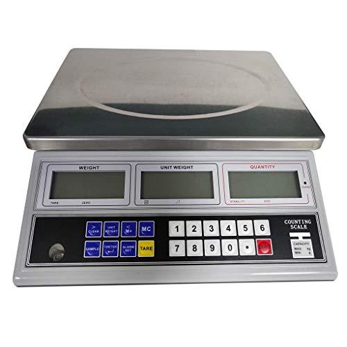 TRRT Industrial Escala Electrónica Digital Balanza De Precio, Pesaje Comercial Pantalla LCD para Al por Menor Tienda De Liquidación Cocina Comida Báscula (Color : 15kg/0.1g)