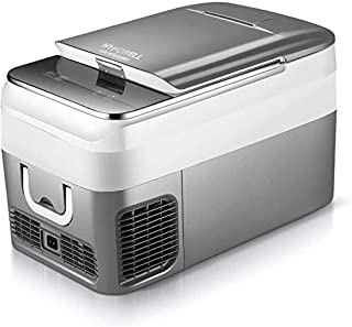 Hypowell 車載家庭両用 ポータブル冷蔵庫 2WAY電源対応 車載冷蔵庫 一人暮らし 26L 小型冷蔵庫 アウトドアや緊急時の車中泊にも活躍 ミニ冷蔵庫