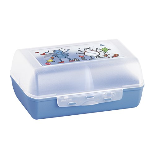 Emsa 513792 Brotdose für Kinder, Herausnehmbare Trennwand, Ameisenmotiv, Blau, Variabolo Anton Ant