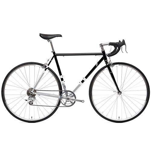 State Bicycle 4130 Road - Black & Metallic | Double Butted Grade Chromoly Steel ft. Seat Stay Rack...