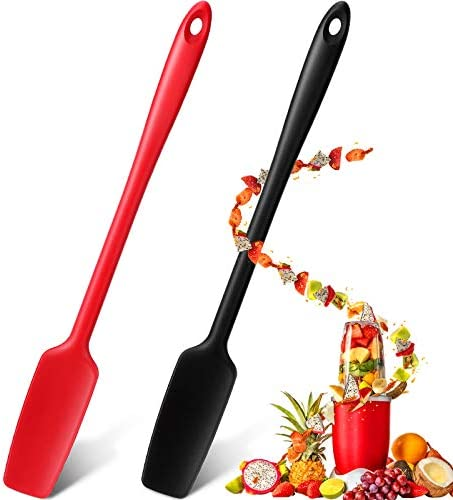 Long Handle Silicone Jar Spatula Kitchen Scraper Spatula Non Stick Rubber Scraper Silicone Scraper product image