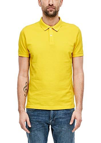 s.Oliver RED Label Herren Poloshirt mit Waffelpiqué-Struktur Yellow L