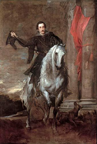 Berkin Arts Anthony Van Dyck Giclee Lienzo Impresión Pintura póster Reproducción Print(Anton Giulio Brignole Venta a Caballo) #XFB
