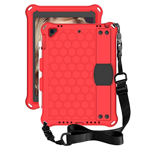 for iPad Air 1 Tablet Case for Kids - Durable Lightweight EVA + PC Shockproof Handle Stand Cover, with Shoulder Strap