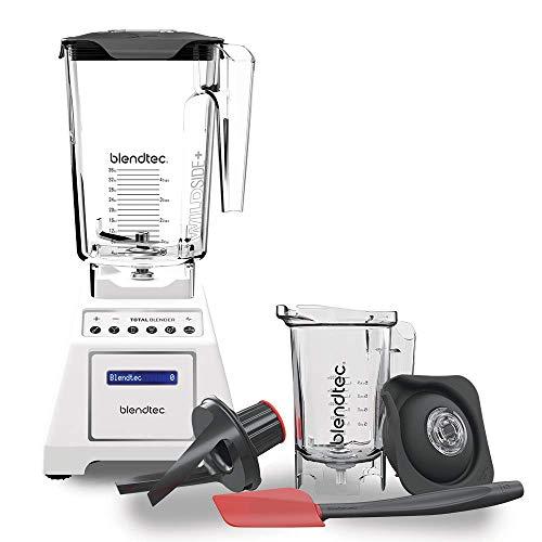 Blendtec Total Classic Original Blender - WildSide+ Jar and Twister Jar BUNDLE - Professional-Grade Power - 6 Pre-programmed Cycles - 10-speeds - White