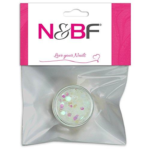 Nail Art Paillettes Pastel White de pour Full Cover Model couches & individuelle Nail Art Design Motif