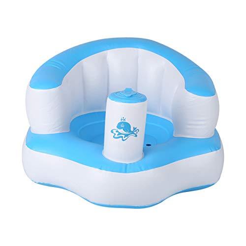 HelloCreate Baby Badesitz, eingebaute Pumpe, Babysitz, aufblasbarer Stuhl, Sofa, Spielen für Kinder