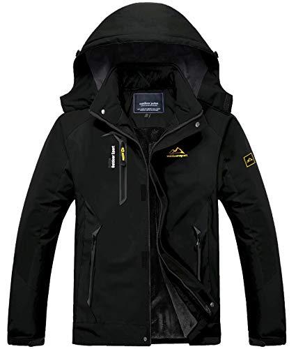 Mens Winter Jacket Warm Waterproof Jacket Snowboarding Jacket Ski Jacket Tactical Jacket Coat Parka Jacket Men with Hood Raincoat