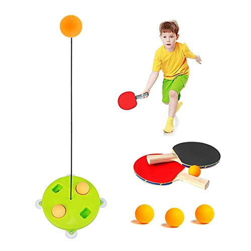 Volwco Tischtennis-Trainer für drinnen und draußen, für Erwachsene/Teenager/Kinder/Kinder, elastisch, weiche Achse, Ping-Pong-Ball, Training, Helfer, Freizeit Dekompression, Sportausrüstung