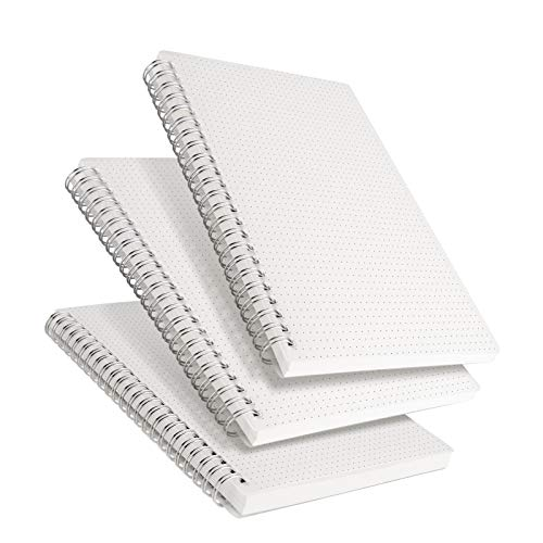 RETTACY Dot Grid Notebook Spiral - 3 Pack Dotted Bullet Grid Journal with 480 Pages,100gsm Thick Dotted Paper,5.7'x 8.3'