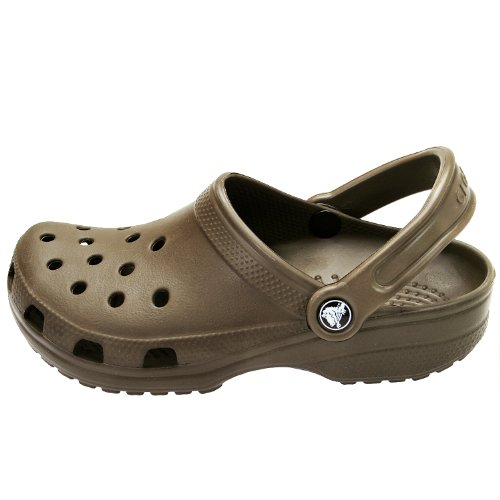 Crocs Classic - Zuecos unisex para adultos, color marrón, talla 51/52 EU