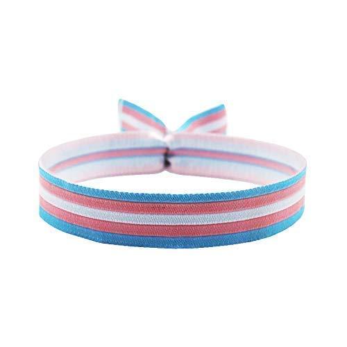 3x Transgender Flagge Armband Trans Festival Bändchen CSD Pride Lgbt