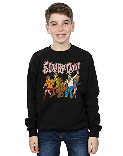 Absolute Cult Scooby Doo Niños Classic Group Camisa De Entrenamiento Negro 9-11 Years