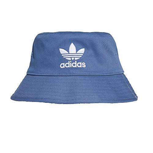 adidas Bucket Hat - Sombrero de pescador azul y blanco Talla única