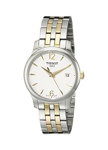 Tissot Damen-Uhren Analog Quarz One Size Edelstahl 86472724