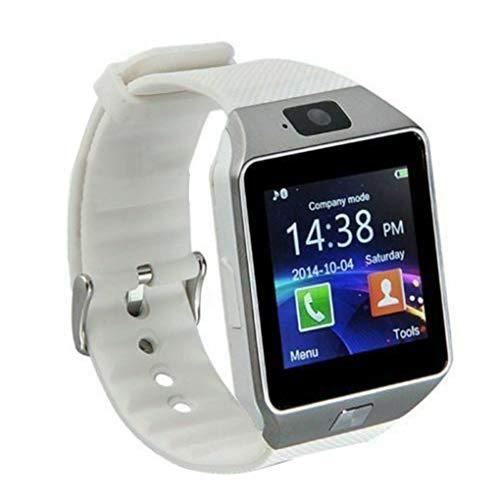 teng hong hui DZ09 Bluetooth Sport Watch Soporte de 1.56 Pulgadas TFT Tock SN Bluetooth Toque SN Sn Shistwatch Pulsera Pulsera, Blanco
