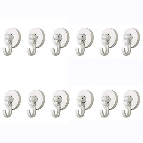SODIAL 12 Piezas de Ganchos Adhesivos Colgadores de Ganchos de Pared RotacióN de 360 Grados, Ganchos de Pared Abatibles Verticales, Calendarios de Ganchos Utilitarios Impermeables