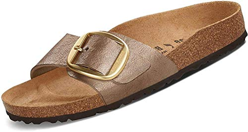 BIRKENSTOCK Pantoletten Madrid Big Buckle Gold 43
