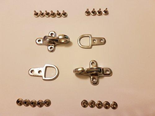 Kuttenverschluss Hakenverschluss Karabiner Verschluss Ersatzverschluss in Silber für Leder Westen 2 Stück