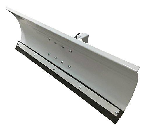 Schneepflug Schneeschild Universal 5 Fach verstellbar für Einachsermaschinen oder Rasentraktoren 100x40 cm Grau