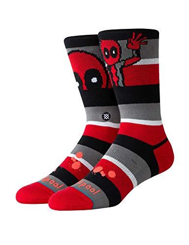 Stance Deadpool Stripe Socken Unisex, Red, M