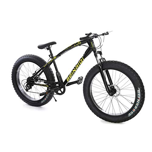 Big Fat Tire Mountain Bike Men Bicycle 26 in High Carbon Steel...