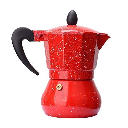 Chunjiao Grinder de café manual -Mocha Máquina de café Mocha Mochila Mocha Cafetera de aluminio de grado alimenticio y cafetera de diez esquinas, 1/3/6 tazas) Maquina de cafe
