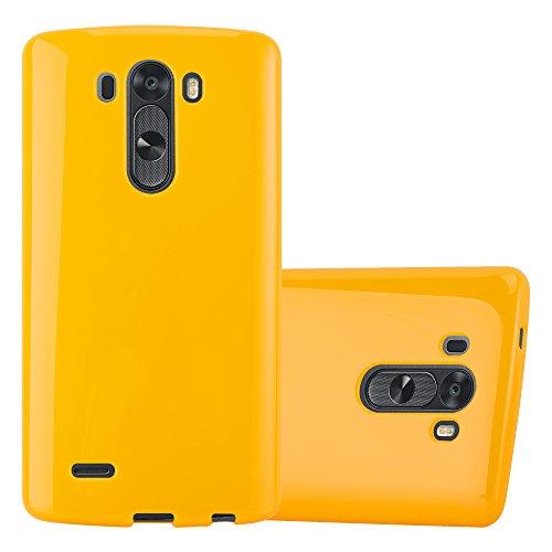 Cadorabo Funda para LG G3 en Jelly Amarillo - Cubierta Proteccíon de Silicona TPU Delgada e Flexible con Antichoque - Gel Case Cover Carcasa Ligera