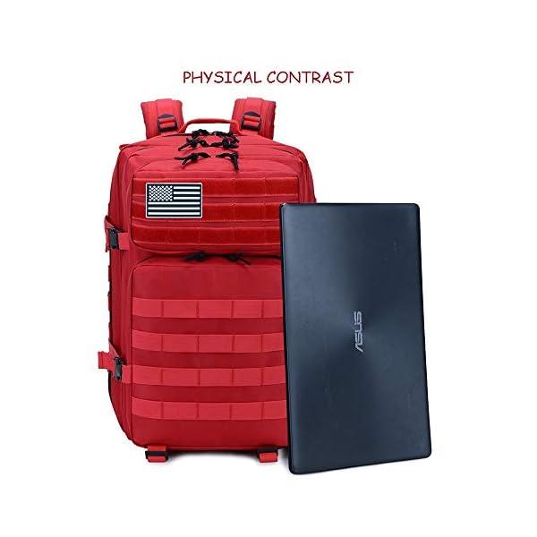 SJAPEX Mochila Táctica Militar 45L, Paquete de Asalto de Gran Capacidad para Utilidad Militar Bolsa de Emergencia, para… 2