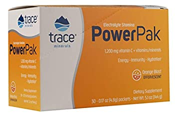 Trace Minerals Electrolyte Stamina Power Pak 1200 Mg Vitamin C Non-GMO 30 Count Organic Cane sugar Concentrace Hydration Dehydration.