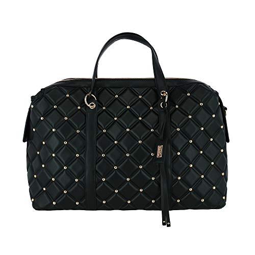 Badgley Mischka Quilted Weekender Bag, Black