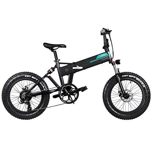 nimabi Faltrad E-Bike Elektrofaltrad Klapprad E-Bike, 20 Zoll, Anfahrhilfe, 3 Gänge, Fahrunterstützung 25 km/h, Reichweite 100 km Black