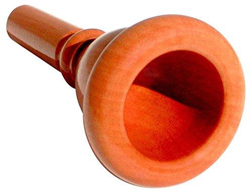 Rieger & Gräf 24AW Birne Mundstück für Tuba (hochwertiges Mundstück für Tuba aus Birnenholz mit mitteltiefem Kessel & breitem, abgerundetem Rand)