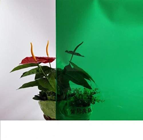 Glas-in-lood kleefstof Tweekleurige film warmte-isolatie zonnebrandcrème cellofaan transparant tweeweg decoratieve film Raamfolie 10x100cm, 6