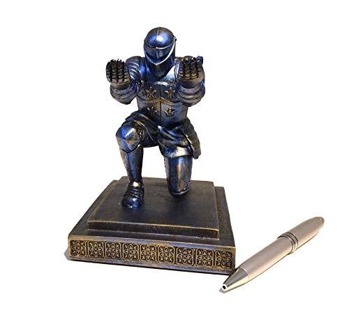 [CHAICLO] デスク インテリア グッズ ユニーク ペンスタンド 騎士 Knight デザイン おしゃれ オフィース オブジェ (ダークブルー)