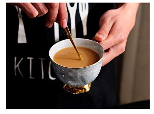 Europäischen Stil Marmorierung Keramik Kaffeetasse Set Britischen Nachmittag Tee Golden Rim Tasse Und Untertasse Geschenk-box 300ml Graue Tasse