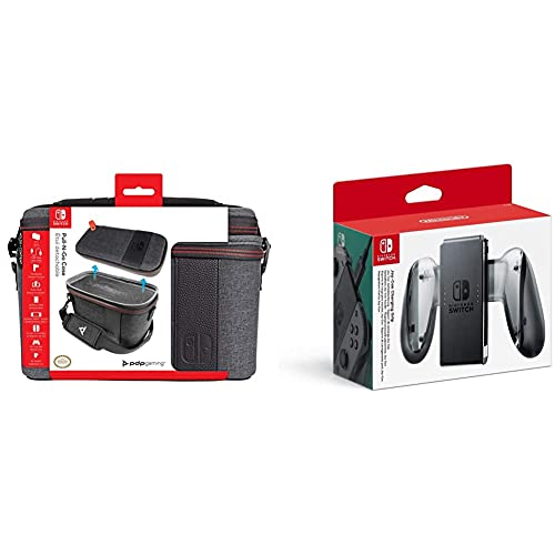 Oferta de PDP Funda Pull-N-Go Case Edición Elite (Nintendo Switch) + Nintendo Nintendo Joy-con Soporte Carga