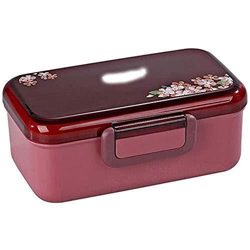 Boîte à bento Rectangulaire Fibre de Bambou Boîte à Lunch, étanche et résistant à Goutte, Micro-Ondes Chauffants Alimentaires Conteneurs, déjeuner des conteneurs Couverts (BPA) 600ml,Violet