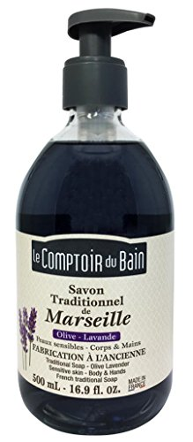 Le Comptoir du Bain Savon de Marseille Liquide Olive Lavande 500 ml - lot de 3